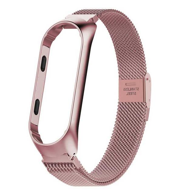 Leecnuo Xiaomi Mi Band 3 MiBand 3 Strap Metal Bracelet Stainless Steel Wrist Strap Milanese Magnet/Buckle Mi Band Strap