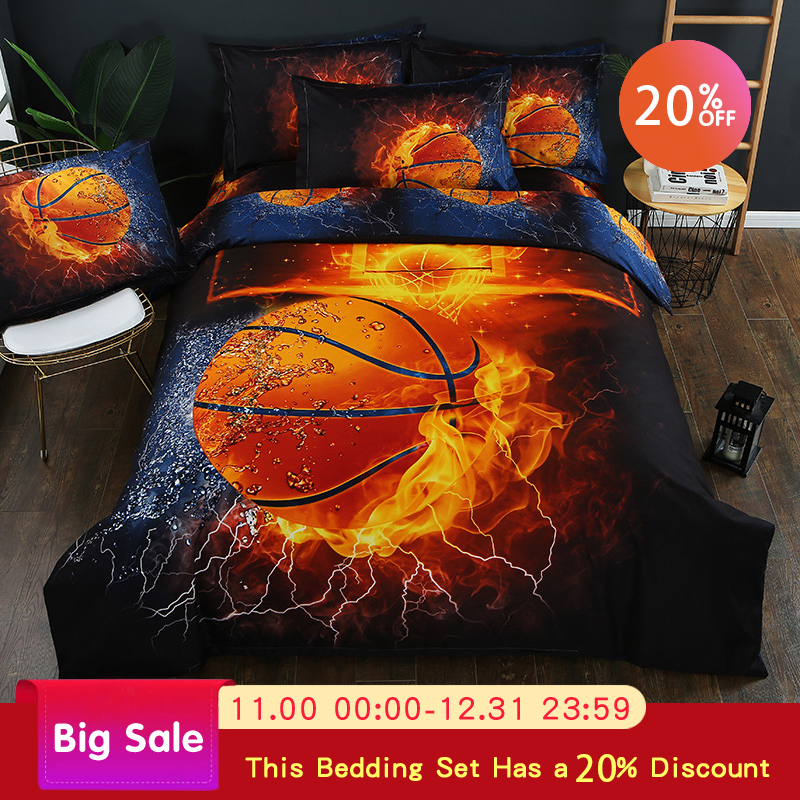 Comfortable Queen Size Bed Cover Pillow Cover 1.5m Bed Set Sport Bed Cover King Grade Comfortable Bed Cover 3pcs Various Styles