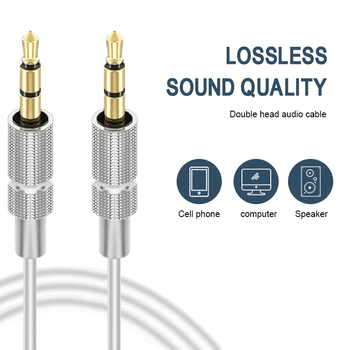 Aux Cable 2.5mm to 3.5mm Gold-plated stereo Audio cable Jack 3.5 mm Aux Cable For Car SmartPhone Speaker Headphone Moible Phone image