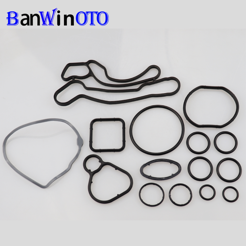 Engine Oil Cooler Repair Set Of Heat Exchanger Gasket For Chevrolet Cruze Opel Orlando Astra 93186324 55353322 55353320 55355603
