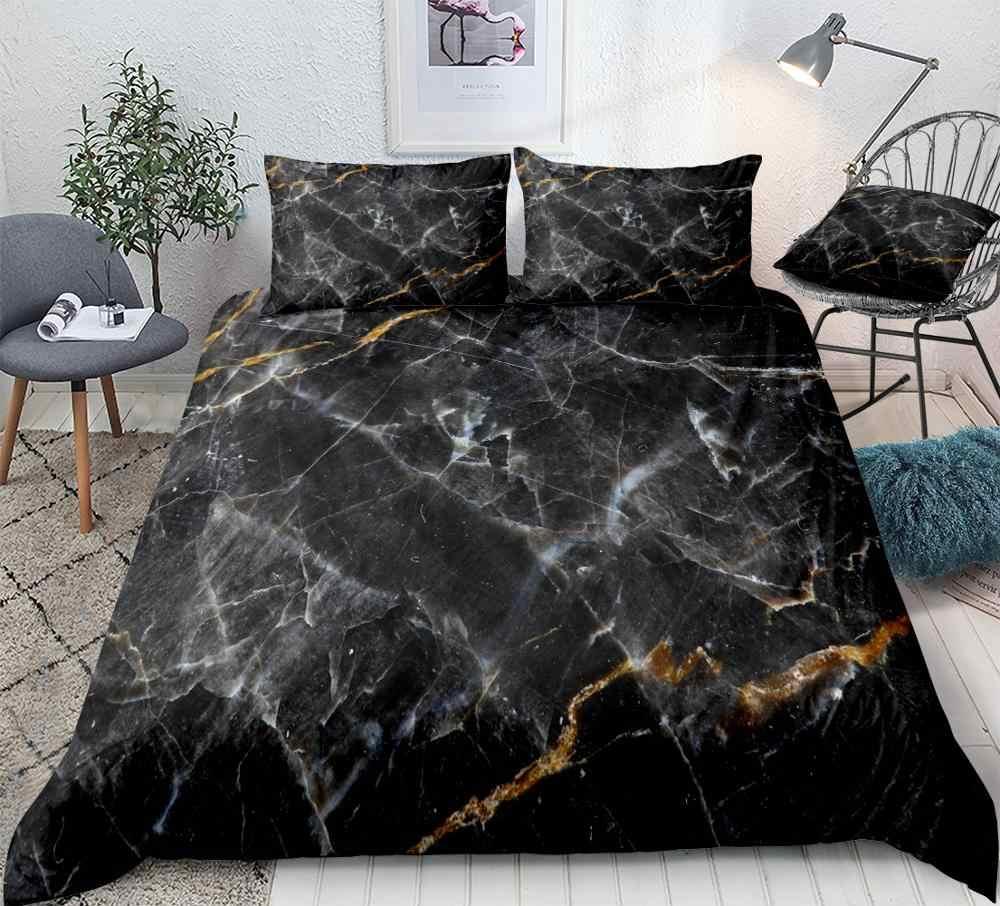 Duvet Cover Set Black Gold Bedding