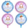 5 шт./лот, 18-дюймовые испанские воздушные шары MI BAUTIZO с синим розовым ангелом для мальчиков и девочек, вечерние украшения для крещения и креще...