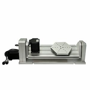 Image 4 - Axe rotatif daxe de CNC 4th 5th pour le routeur de CNC un Type de plat daxe avec la Machine de gravure de Miling de CNC de travail du bois de moteur pas à pas de Nema23