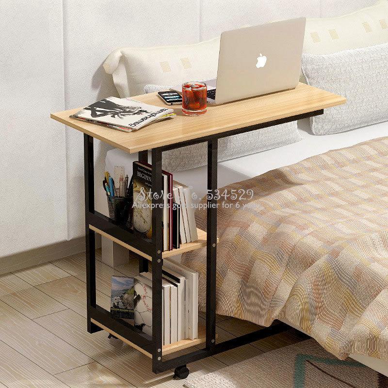 5%Simple Desktop Computer Desk Learning With Household Folding Mobile Bedside Table Mobile Laptop Standing Desk