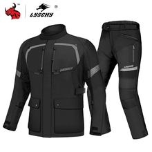LYSCHY Motorcycle Jacket Men Autumn Winter Waterproof Motorbike Riding Jacket Cold proof Protective Gear Armor Moto Clothing