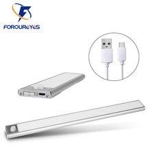 Ультратонкий ночник 12/23, 5/40 см, светодиодный светсветильник льник для шкафа с пассивным инфракрасным датчиком движения, USB-перезаряжаемая л...