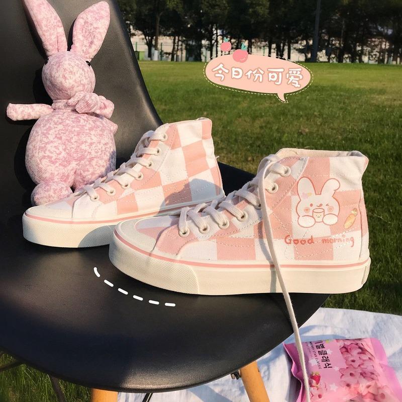 Sneakers Kawaii Lolita Shoes Anime Women\'s Sports Flats Female Casual Tennis Basketball Vulcanize Footwear