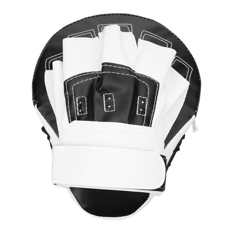 Boxing Gloves Pads Mitts MMA Training PU Foam Boxer Hand Punch Pad Black