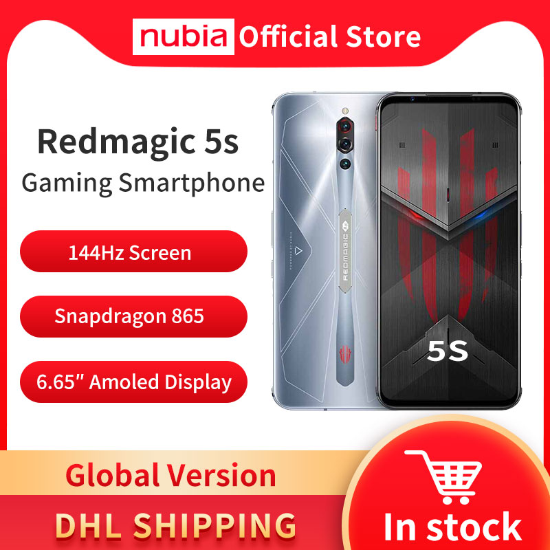 DHL Free Global Version Nubia Red magic 5S Gaming Smartphone REDMAGIC 5S Game Mobile Phone Snapdragon 865 NFC 6.65\
