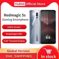 Nubia-teléfono inteligente REDMAGIC envío gratuito con DHL versión Global, Smartphone para juegos de 5S, Snapdragon 865, NFC, 6,65
