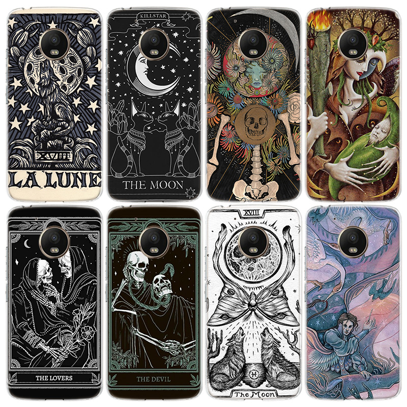 Witches moon Tarot Mystery totem) Phone Case For Motorola Moto G8 G7 Power G6 G5 G5S E6 E5 E4 Plus Play G4 One Action X4 EU Cove