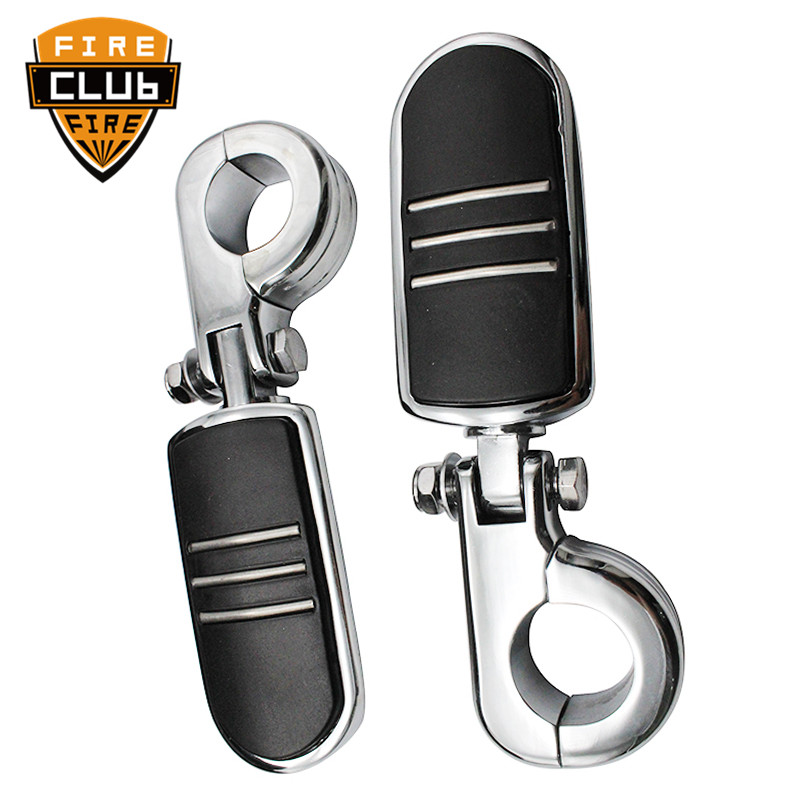 """Universel 32 Mm Foot pegs Mount Pour Harley 1.25/"""" Engine Guard Crash Highway Bar"""