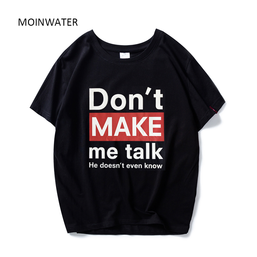 MOINWATER Brand New Women Cotton T shirts Female Fashionable Tees&Tops Summer Short Sleeve Female Casual T-shirt MT1946