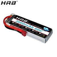 Mejor HRB 3S 11,1 V 3000mah batería de Lipo de 60C XT60 EC5 T decanos XT90 conector para Traxxas TRX coche avión estilo FPV Drone barco camión piezas de control remoto