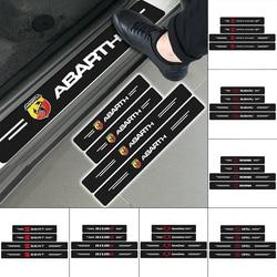 4 pçs logotipo do carro de fibra carbono sitcker auto peitoril da porta decalque para jaguares xk tijera ropa llavero F-TYPE v8 xf xj 13my I-PACE xe C-X75