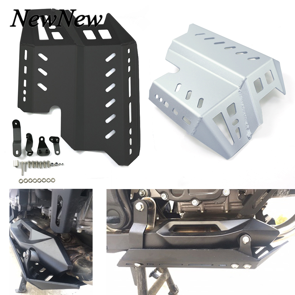 Motorcycle CNC Aluminum Skid Plate Foot Rests Bash Frame Engine Guard Cover Chassis Protector For Honda <font><b>CB500X</b></font> CB500 X <font><b>2019</b></font> 2020 image