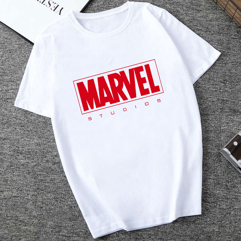 Captain America Iron Spider Short Sleeve Vogue The Avengers Summer Tee Tops MARVEL Studios White T Shirt Cartoon Tops