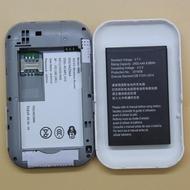 Odblokowany 4G mifi Router MF80 OEM E5573 4G lte router mobilny WiFi Hotspot 4G kieszonkowy wifi 4g modem karta sim PK huawei E5573