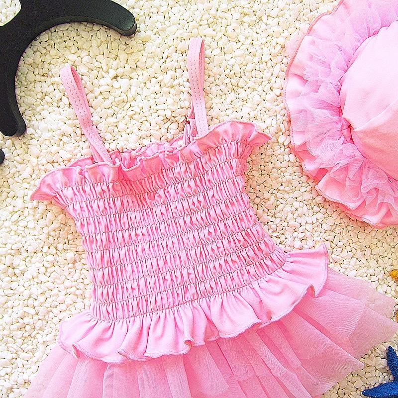 New Style Korean-style Infants Cute Dress-Baby Girls Large Children Bubble Hot Spring KID'S Swimwear