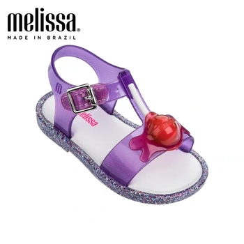 Mini Melissa Lollipop Sandal Girl Jelly Shoes Sandals 2020 NEW Baby Shoes Melissa Sandals Non-slip Kids Shoes Children 14-18cm image