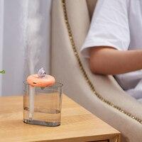 Urządzenia domowe USB nawilżacz nadmuchiwane koło słodkie zwierzątko ultradźwiękowe fajne Mist Aroma dyfuzor oleju powietrza romantyczny kolor lampy LED|Nawilżacze powietrza|AGD -