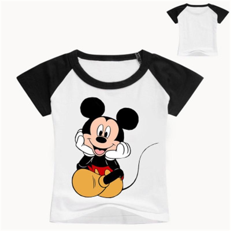 Kids Tshirt Tops Boys&girls  Fashion Cotton Sport  Mickey New Short Sleeve Baby Summer Cute Children's Clothes Popular