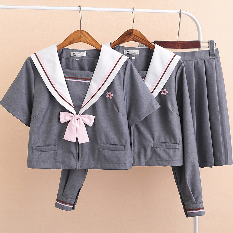 Japanese School Uniforms Anime COS Sailor Suit JK Navy Style Students Clothes For Girl S-XXL