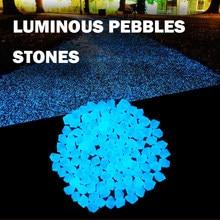 300 pçs/saco brilho seixos brilho no jardim escuro seixos pedras brilhantes para passarelas caminho gramado quintal decoração do jardim pedras luminosas