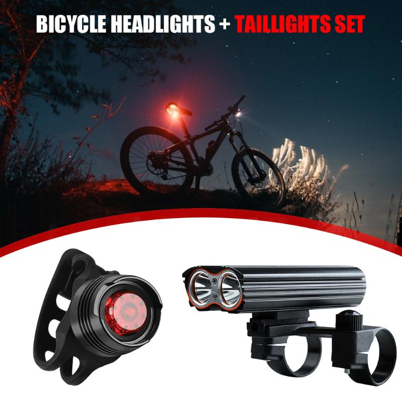 USB LED Rechargeable Bycicle Light Headlamp Headlight Bike Lamp Torch 4 Mode