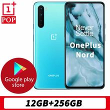 Globalna wersja OnePlus Nord 5G telefon komórkowy 6.44 cala płyn AMOLED 12GB RAM 256GB ROM Snapdragon 765G Octa Core 48MP Quad Camera