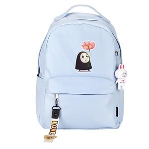 Image 5 - Spirited Away No Face uomo donna zaino rosa zaino piccolo Kawaii zaino da viaggio impermeabile borse da scuola per gatti carino Bookbag rosa