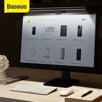 Baseus Stepless Dimming Eye-Care LED Desk Lamp For Computer PC Monitor Screen Hanging Light Reading USB Powered - discount item  30% OFF Indoor Lighting