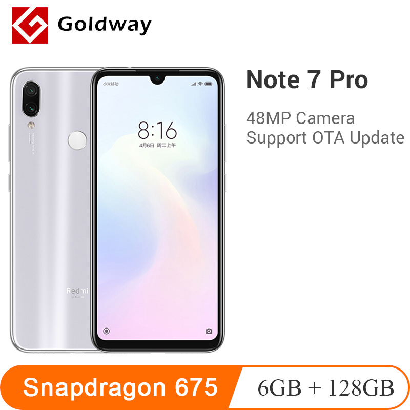 Global ROM Xiaomi Redmi Note 7 Pro 6GB RAM 128GB ROM Mobile Phone Snapdragon 675 Octa Core 6.3
