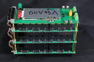 Image 3 - Power Wall 18650 Battery Holder 62V/72V Battery Box Balancer PCM 17s 45A BMS diy Kit 18650 Battery Pack for Ebike Electric Car