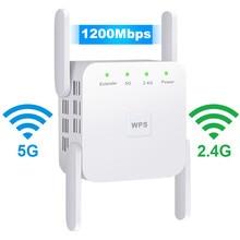 5г 1200 Мбит / с беспроводной повторитель маршрутизатор WiFi расширитель 2.4 G беспроводная длинный диапазон бустер беспроводной доступ в интернет усилитель сигнала 5 ГГц беспроводной репитер