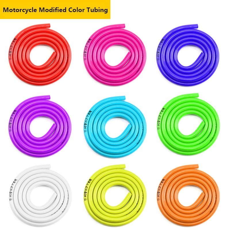 1M Motorcycle Hose Rubber Gasoline Pipe Gas Oil Pipe Tube Nylon Soft For Mini Moto Dirt Bike Colorful Gas Oil Hose Fuel Line