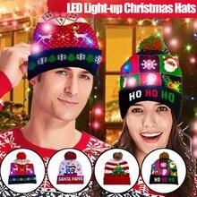 Популярные дизайнерские светодиодные рождественские шапки облегающая
