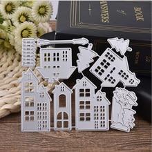 Вырубные штампы рождественский дом Скрапбукинг штампы металл ремесло Вырубные штампы тиснение декор для изготовления открыток