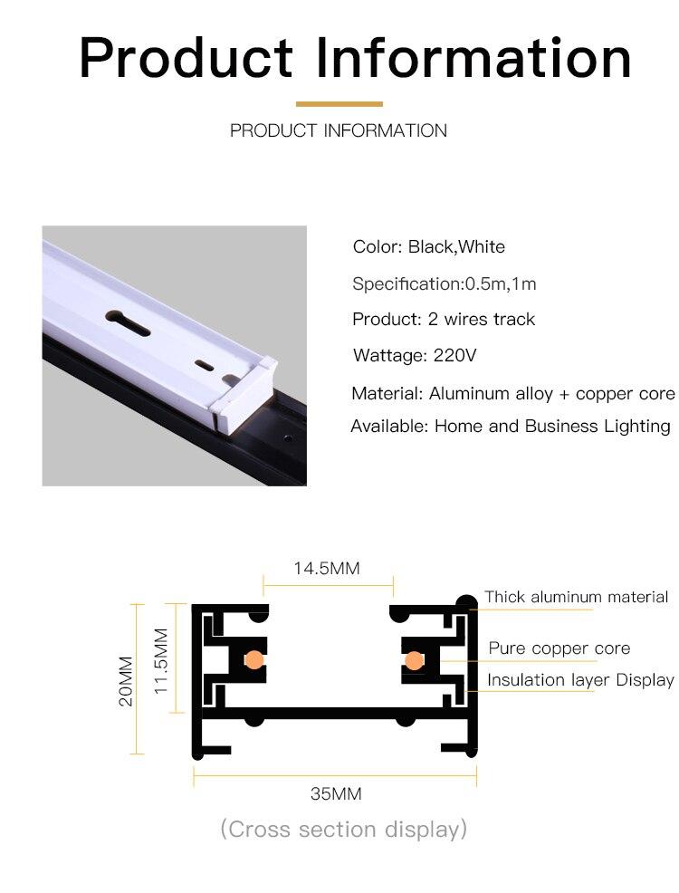2 fio de alumínio Universal trilho para Loja de Roupas
