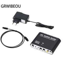 Conversor de áudio estéreo ac3, decodificador de som rca digital para analógico 5.1 canal óptico spdif coaxial aux 3.5mm para 6 rca amplificador,