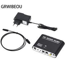 Digitaal Naar Analoog 5.1 Kanaals Stereo AC3 Audio Converter Optische Spdif Coaxiale Aux 3.5 Mm Naar 6 Rca Sound Decoder versterker