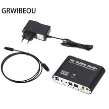 Digital to Analog 5.1 channel Stereo AC3 Audio Converter Optical SPDIF Coaxial AUX 3.5mm to 6 RCA Sound Decoder Amplifier