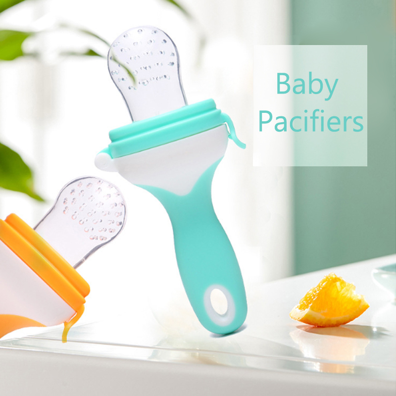 Long Handle Baby Pacifier Fresh Food Nibbler Kids Fruit Feeder Nipples Feeding Safe Baby Supplies Nipple Teat Pacifier Bottles