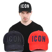 2021 nova itália ícone da marca bonés de beisebol dos homens chapéu de algodão unisex ajustável feminino dsq2 bonés de beisebol carta boné preto