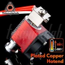 Trianglelab V6メッキ銅hotendため高温ノズル熱ブロック熱ブレークヒートシンクpetg peekペイabs炭素繊維