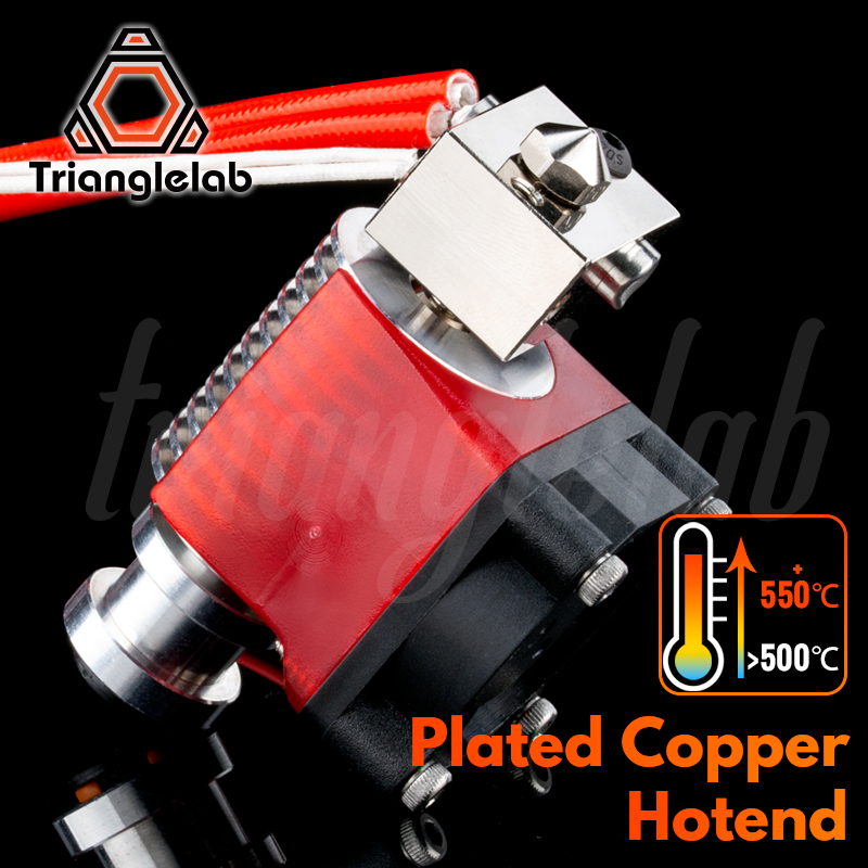trianglelab V6 Plated Copper Hotend High temperature Nozzle heat Block heat Break Heatsink for PETG PEEK PEI ABS carbon fiber