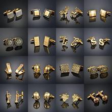 Светильник, роскошная рубашка, запонки, мужская рубашка, манжеты для ногтей, французские золотые пуговицы, на заказ, свадебное платье, костю...