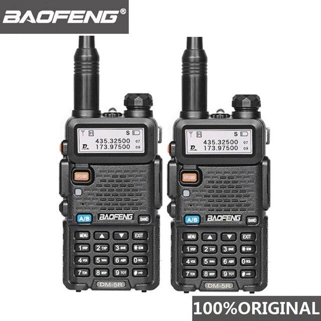 2 pezzi Baofeng DM 5R Walkie Talkie Digital DMR Radio VHF UHF DM 5R Ham Radio amatoriale HF Transceiver DM5R compatibile con Motorola