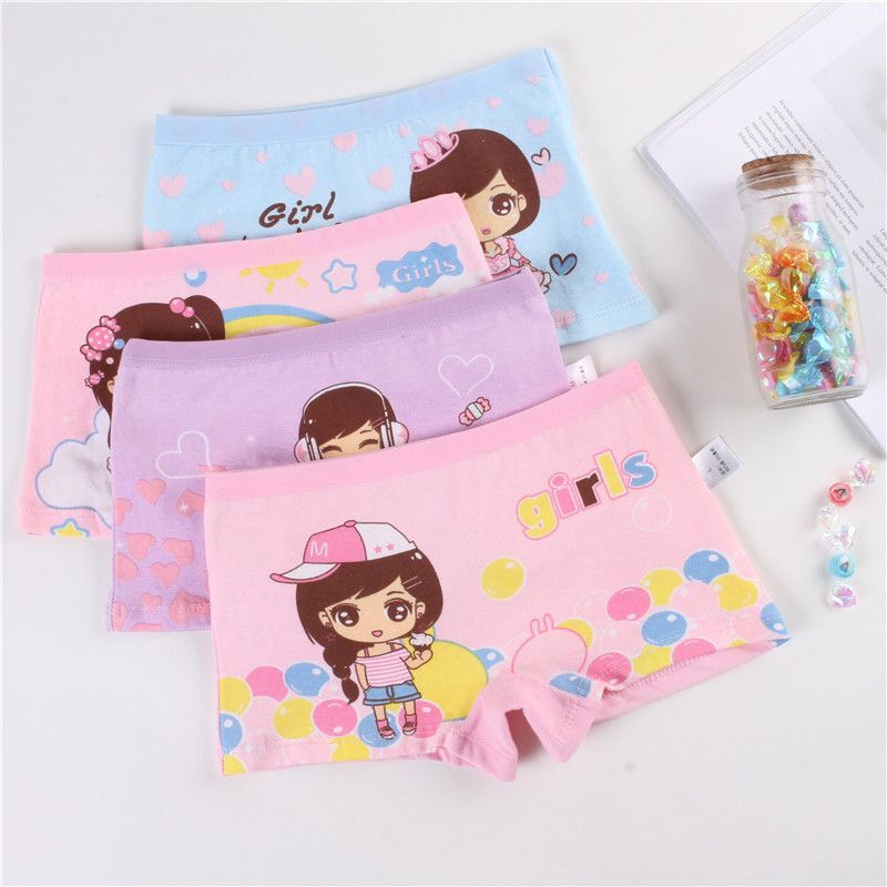 4Pcs/Lot Cartoon Underpants Baby Boxer Kids Underwear Cotton Panties Calcinhas Infantis 2-10Y 3