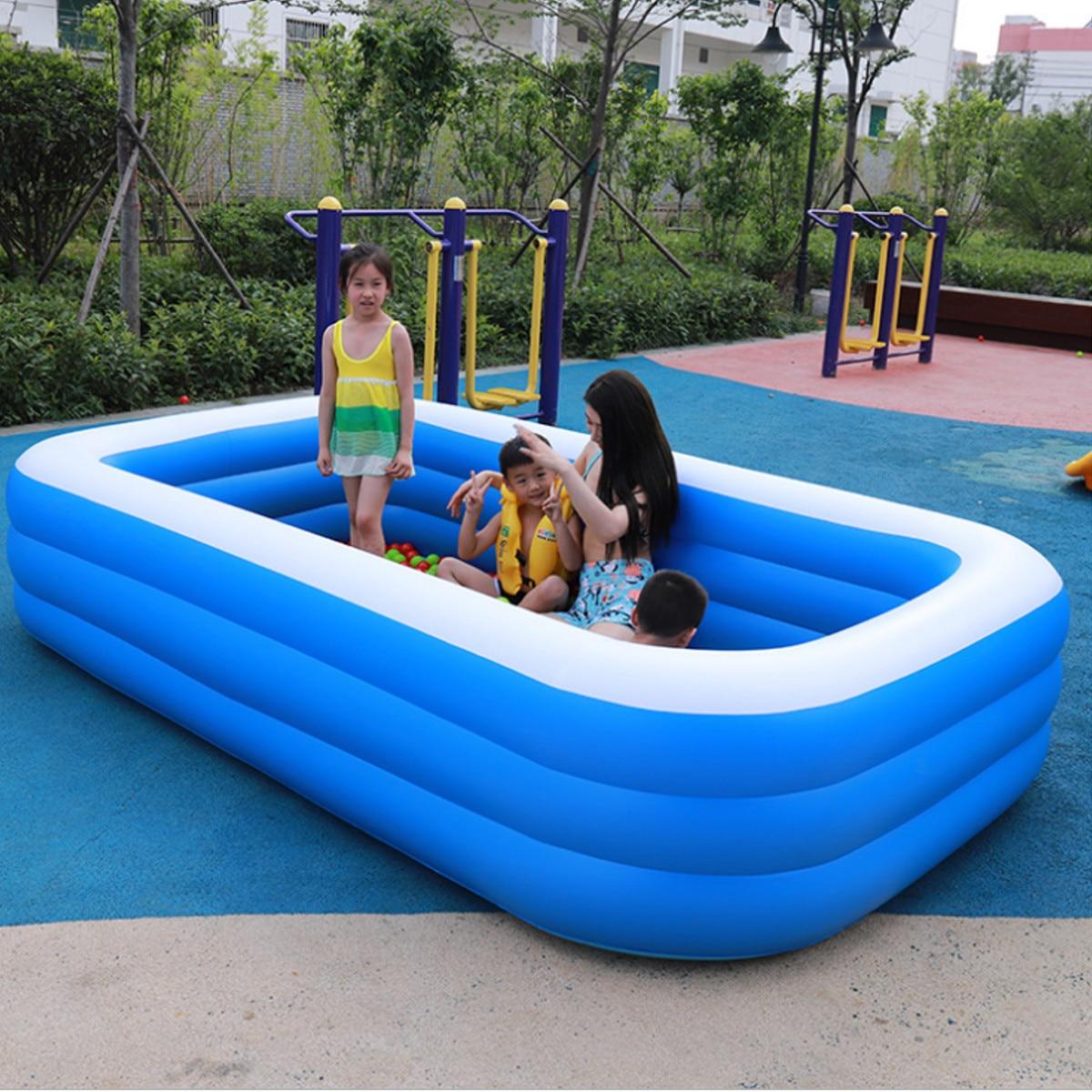 3 Layers Portable Inflatable Swimming Pool Environmental PVC Warm Adults Kids Bath Bathtub Foldable Outdoor Indoor Bathroom SPA